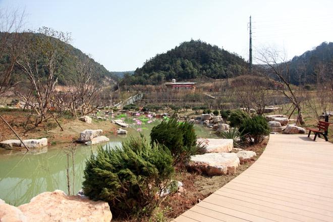 桃花岭山体公园分为五个分区
